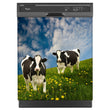 Load image into Gallery viewer, Grazing Cows Magnet Skin on Black Dishwasher