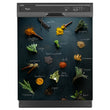 Load image into Gallery viewer, Herbs & Spices Magnetic Dishwasher Cover Skin Panel on Dishwasher with Black Control Panel