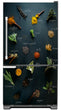 Load image into Gallery viewer, Herbs & Spices Magnetic Refrigerator Skin Cover Panel on Fridge Model Type Bottom Freezer Fridge