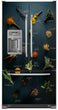 Load image into Gallery viewer, Herbs & Spices Magnetic Refrigerator Skin Cover Panel on Fridge Model Type French Door with Ice maker