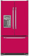 Load image into Gallery viewer, Hot Pink Color Magnet Skin on Model Type French Door Refrigerator with Ice Maker Water Dispenser