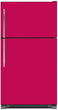 Load image into Gallery viewer, Hot Pink Color Magnet Skin on Model Type Top Freezer Refrigerator