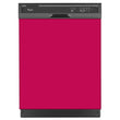 Load image into Gallery viewer, Hot Pink Color Magnet Skin on Black Dishwasher