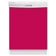 Load image into Gallery viewer, Hot Pink Color Magnet Skin on White Dishwasher