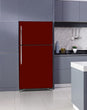 Load image into Gallery viewer, Lavender Kitchen Cabinets Insert Burgundy Maroon Magnet Skin on Fridge Model Type Top Freezer with White Marble Floors