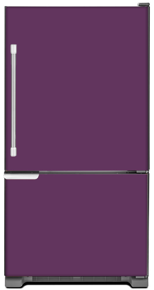Lavender Mauve Color Magnet Skin on Model Type Bottom Freezer Refrigerator