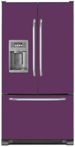 Lavender Mauve Color Magnet Skin on Model Type French Door Refrigerator with Ice Maker Water Dispenser