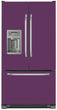 Load image into Gallery viewer, Lavender Mauve Color Magnet Skin on Model Type French Door Refrigerator with Ice Maker Water Dispenser