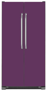 Lavender Mauve Color Magnet Skin on Model Type Side by Side Refrigerator