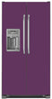 Load image into Gallery viewer, Lavender Mauve Color Magnet Skin on Model Type Side by Side Refrigerator with Ice Maker Water Dispenser
