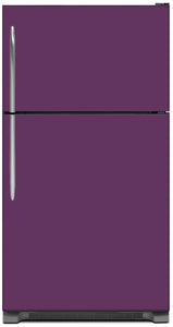 Lavender Mauve Color Magnet Skin on Model Type Top Freezer Refrigerator