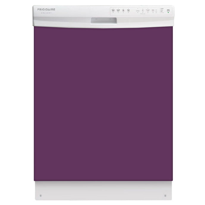 Lavender Mauve Color Magnet Skin on White Dishwasher