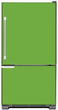 Load image into Gallery viewer, Lime Green Color Magnet Skin on Model Type Bottom Freezer Refrigerator