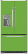 Load image into Gallery viewer, Lime Green Color Magnet Skin on Model Type French Door Refrigerator with Ice Maker Water Dispenser