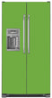 Load image into Gallery viewer, Lime Green Color Magnet Skin on Model Type Side by Side Refrigerator with Ice Maker Water Dispenser
