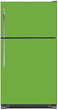 Load image into Gallery viewer, Lime Green Color Magnet Skin on Model Type Top Freezer Refrigerator