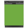 Load image into Gallery viewer, Lime Green Color Magnet Skin on Black Dishwasher