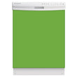 Load image into Gallery viewer, Lime Green Color Magnet Skin on White Dishwasher