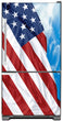 Load image into Gallery viewer, Majestic USA Flag Magnet Skin on Model Type Bottom Freezer Refrigerator