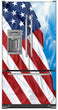 Load image into Gallery viewer, Majestic USA Flag Magnet Skin on Model Type French Door Refrigerator with Ice Maker Water Dispenser