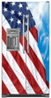 Load image into Gallery viewer, Majestic USA Flag Magnet Skin on Model Type Side by Side Refrigerator with Ice Maker Water Dispenser