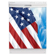 Load image into Gallery viewer, Majestic USA Flag Magnet Skin on White Dishwasher
