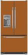 Load image into Gallery viewer, Metal Copper Color Magnet Skin on Model Type French Door Refrigerator with Ice Maker Water Dispenser