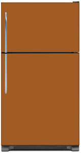 Metal Copper Color Magnet Skin on Model Type Top Freezer Refrigerator