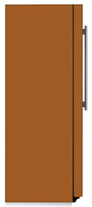 Metal Copper Color Magnet Skin on Side of Refrigerator