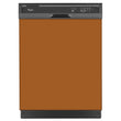 Load image into Gallery viewer, Metal Copper Color Magnet Skin on Black Dishwasher