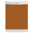 Load image into Gallery viewer, Metal Copper Color Magnet Skin on White Dishwasher