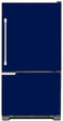 Load image into Gallery viewer, Midnight Blue Color Magnet Skin on Model Type Bottom Freezer Refrigerator