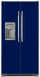 Load image into Gallery viewer, Midnight Blue Color Magnet Skin on Model Type Side by Side Refrigerator with Ice Maker Water Dispenser