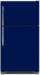 Midnight Blue Color Magnet Skin on Model Type Top Freezer Refrigerator