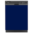 Load image into Gallery viewer, Midnight Blue Color Magnet Skin on Black Dishwasher