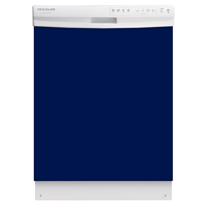 Midnight Blue Color Magnet Skin on White Dishwasher