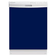 Load image into Gallery viewer, Midnight Blue Color Magnet Skin on White Dishwasher