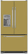 Load image into Gallery viewer, Olympic Gold Color Magnet Skin on Model Type French Door Refrigerator with Ice Maker Water Dispenser