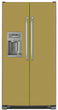 Load image into Gallery viewer, Olympic Gold Color Magnet Skin on Model Type Side by Side Refrigerator with Ice Maker Water Dispenser