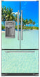 Load image into Gallery viewer, Paradise Island Magnetic Refrigerator Cover Wrap Skin Panel on Model Type Fridge French Door Refrigerator with Ice Maker