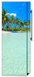 Load image into Gallery viewer, Paradise Island Magnetic Refrigerator Skin Cover Wrap on Fridge Side Panel