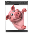 Load image into Gallery viewer, Porky Is Here Magnet Skin on Black Dishwasher