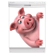 Load image into Gallery viewer, Porky Is Here Magnet Skin on White Dishwasher