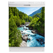 Load image into Gallery viewer, Rapids Country Magnet Skin on White Dishwasher