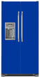 Load image into Gallery viewer, Royal Blue Color Magnet Skin on Model Type Side by Side Refrigerator with Ice Maker Water Dispenser