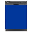 Load image into Gallery viewer, Royal Blue Color Magnet Skin on Black Dishwasher