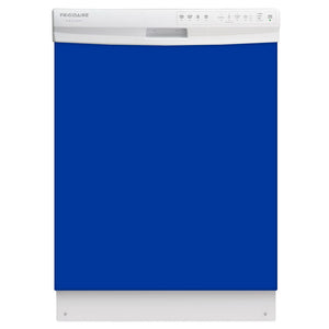 Royal Blue Color Magnet Skin on White Dishwasher