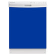 Load image into Gallery viewer, Royal Blue Color Magnet Skin on White Dishwasher