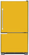 Load image into Gallery viewer, School Bus Yellow Color Magnet Skin on Model Type Bottom Freezer Refrigerator