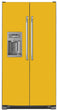 Load image into Gallery viewer, School Bus Yellow Color Magnet Skin on Model Type Side by Side Refrigerator with Ice Maker Water Dispenser